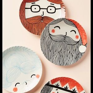 Anthropologie x Krafty K Santa Claus Side Plate